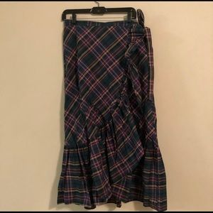 😍😍 J Crew Plaid Wrap Skirt